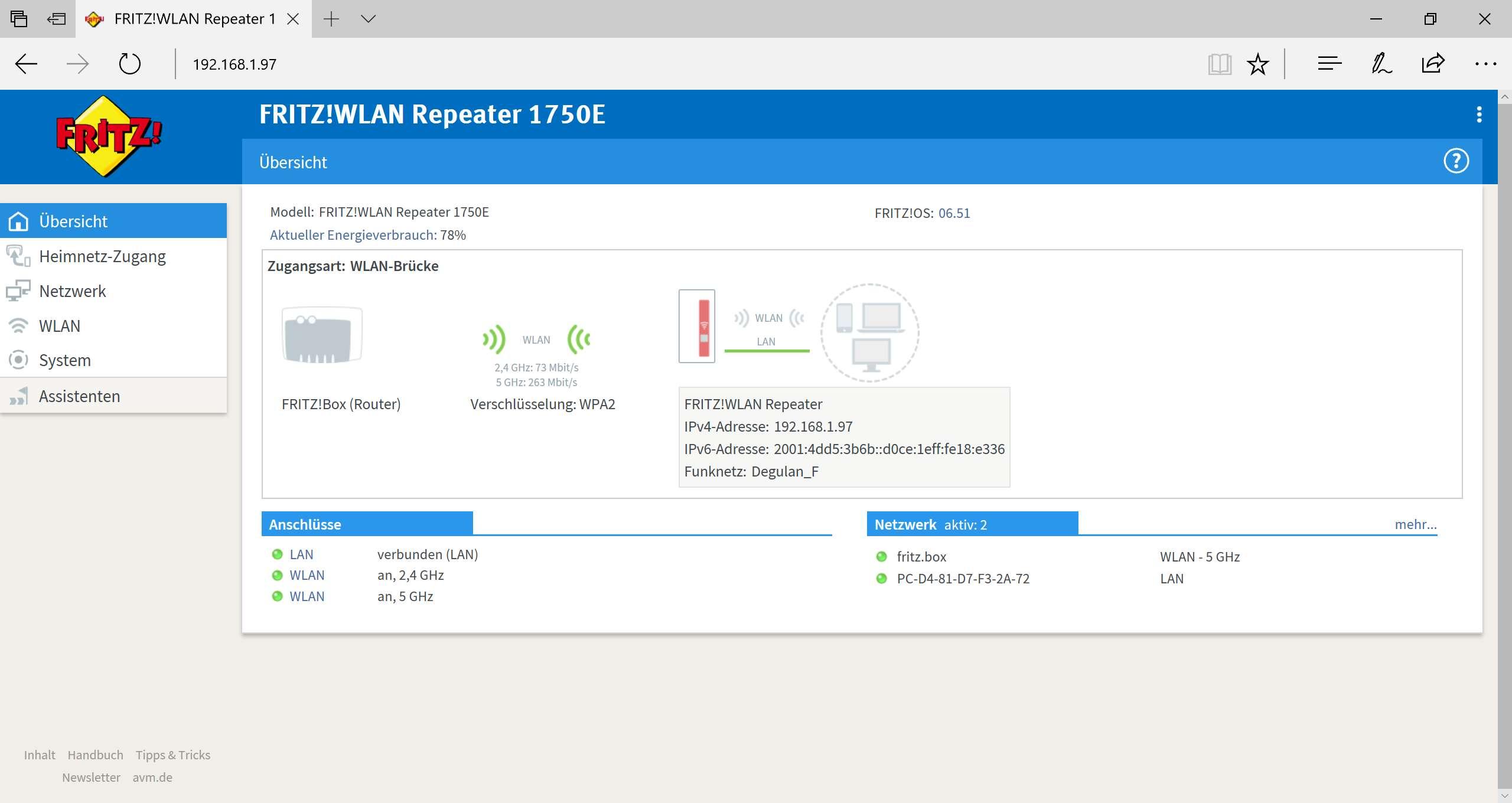 Der AVM FRITZ!WLAN Repeater 1750E im Test – Techtest