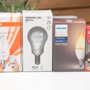 Alternative E14 Glühbirnen für das Philips Hue System im Vergleich (Philips, Innr, Osram und Ikea)