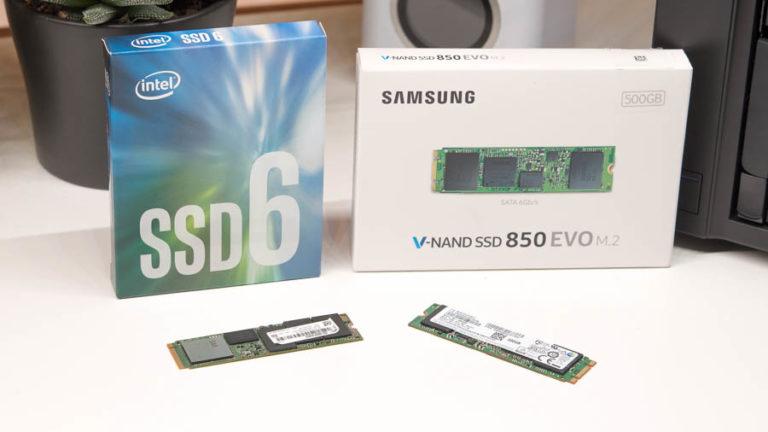 Teure m.2 SATA SSD gegen günstige NVME SSD, was ist besser? (Intel 600P vs. Samsung 850 EVO)