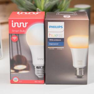 Philips Hue White Ambiance E27 gegen Innr RB 178 T E27 im Vergleich, welche ist die bessere LED Glühbirne?