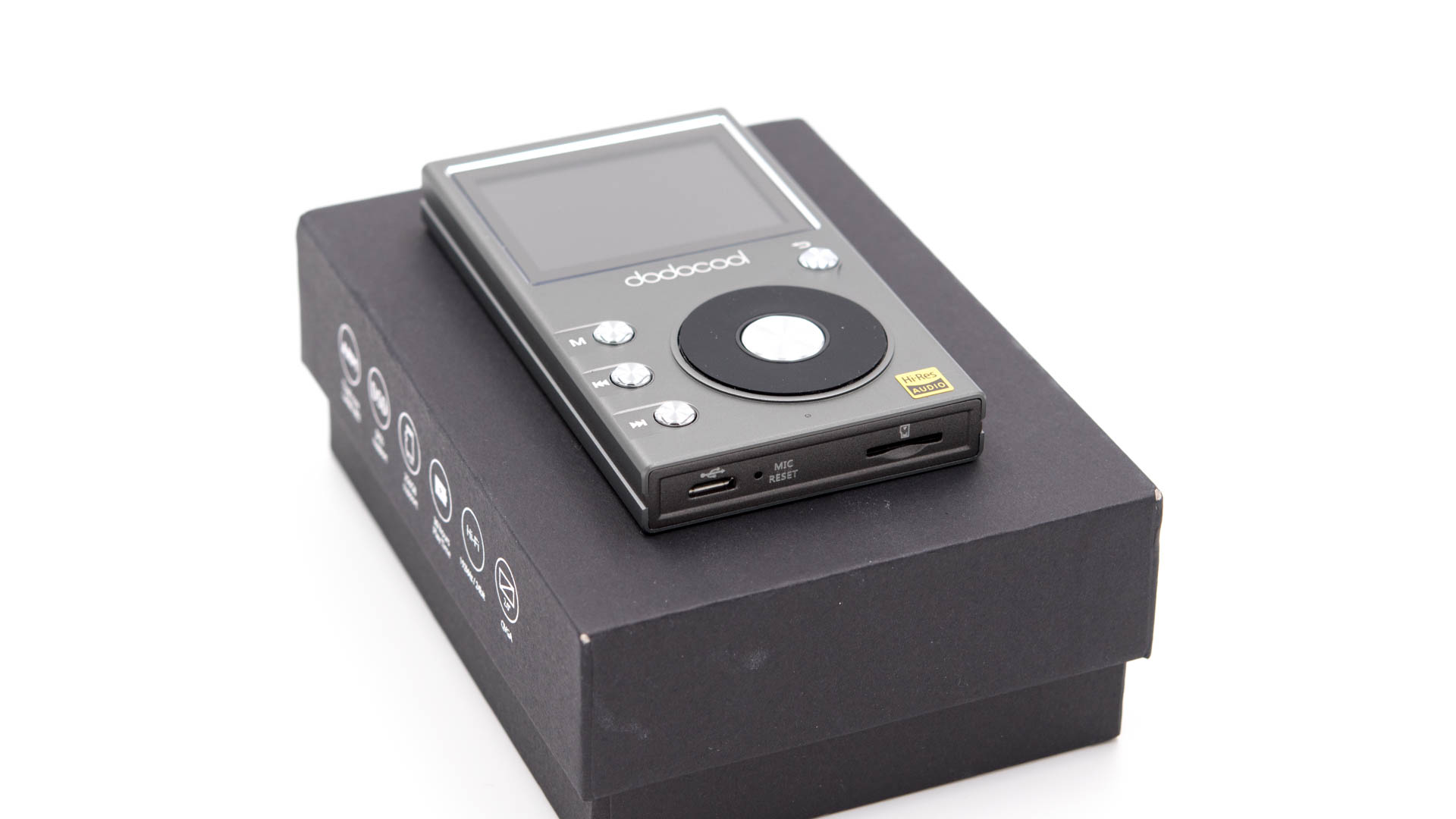 der dodocool da106 hi res mp3 player im test techtest. Black Bedroom Furniture Sets. Home Design Ideas