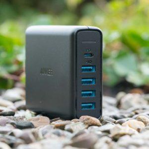 Das Anker PowerPort 5-Port USB C Ladegerät im Test, günstiges Multiport Schnellladegerät fürs iPhone X