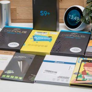 8x Displayschutzfolien und Displayschutzgläser für das Samsung Galaxy S9+ im Vergleich