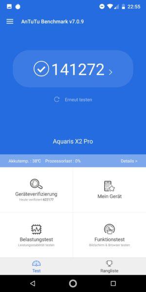 BQ Aquaris X2 Pro Antutu