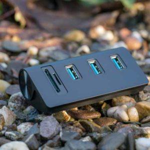 Der Cateck 3 Port USB 3.0 HUB mit Kartenleser im Test