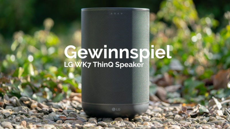 beendet gewinnspiel lg wk7 thinq speaker smarter lautsprecher mit dem google assistent. Black Bedroom Furniture Sets. Home Design Ideas