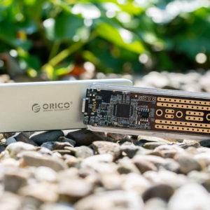 Das ORICO Aluminium M.2 NVMe SSD-Gehäuse im Test