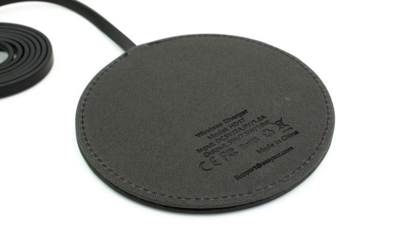 Der Easyacc Wireless Charger 10w Aus Handgearbeiteten Pu Leder Test 4
