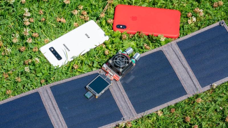 14w Usb Solar Ladegerät Von Choetech Im Test 11
