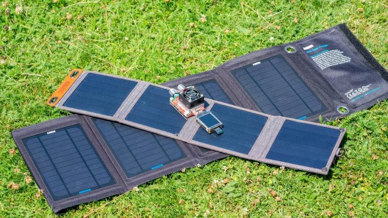 14w Usb Solar Ladegerät Von Choetech Im Test 16