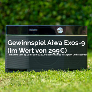 Gewinnspiel, der Aiwa Exos-9 Bluetooth Lautsprecher im Wert von 299€! Beendet!