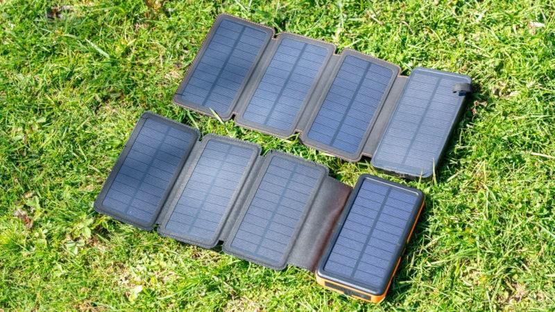 Ausklappbare Solar Powerbanks Test 16