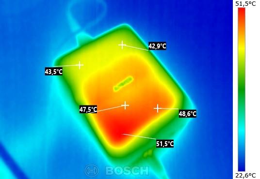 Temperatur Oberseite