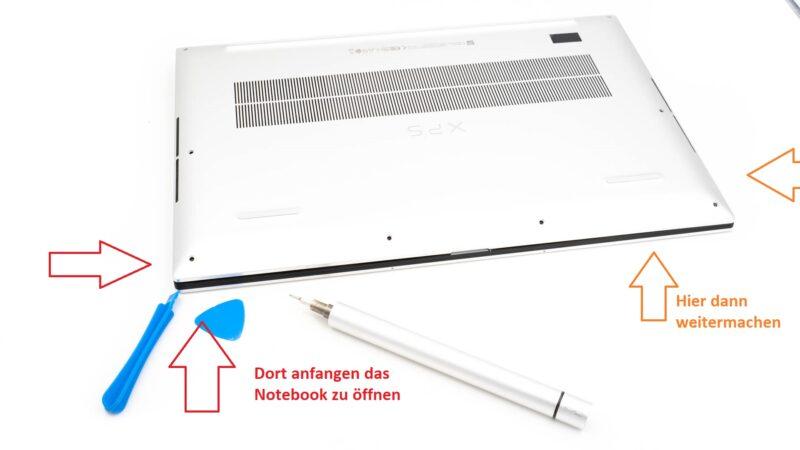 Anleitung Dell Xps 17 9700 öffnen Inside Im Inneren 2