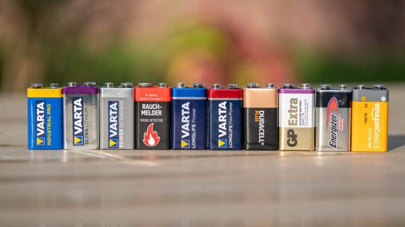 10x 9v Block Batterien Im Vergleich, Wer Ist Besser Varta, Duracell, Energizer 6