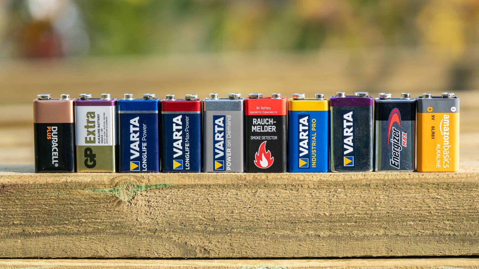 10x 9V Block-Batterien im Vergleich, wer ist besser Varta, Duracell, Energizer, …?