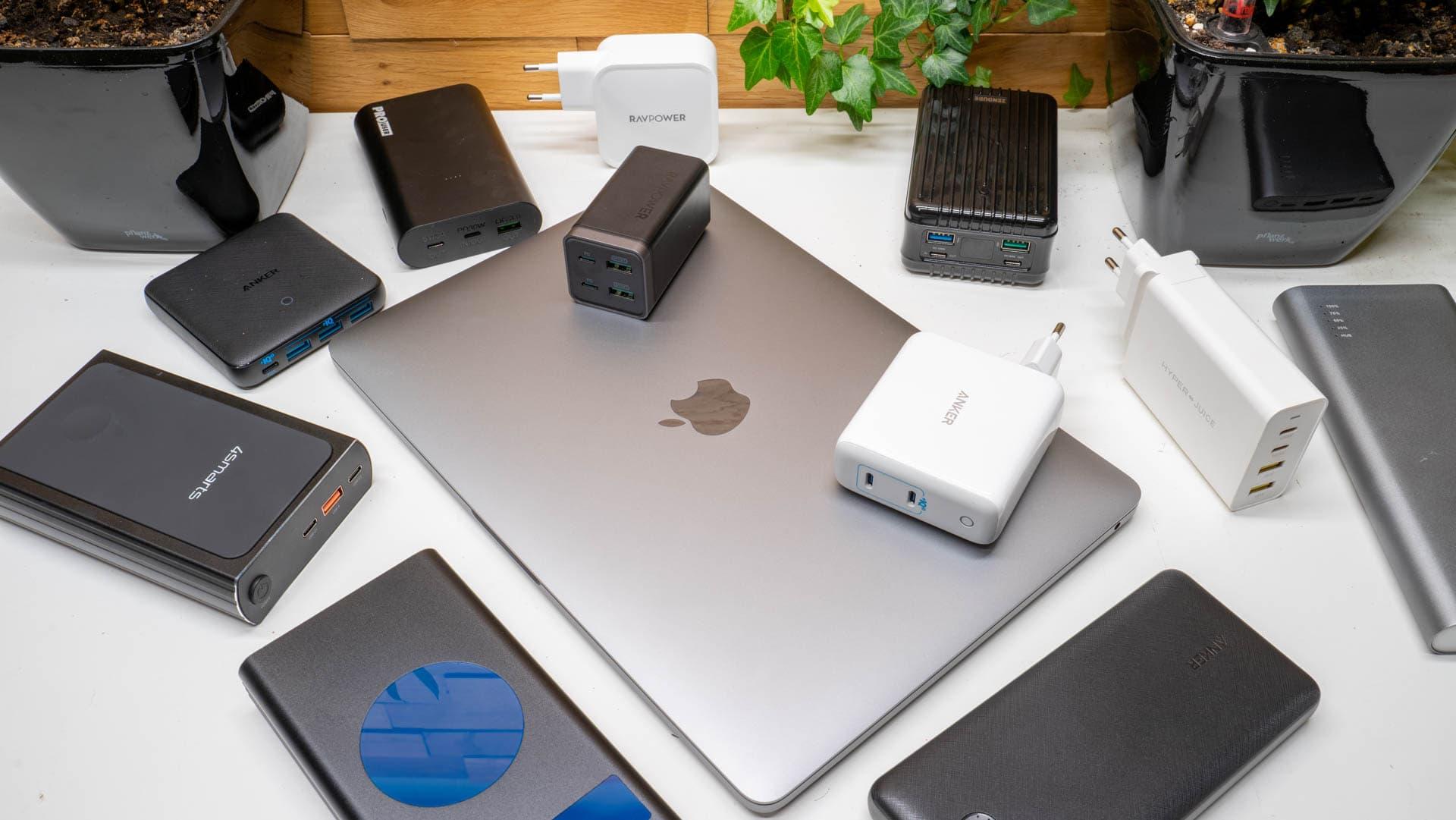 Analyse, Aufladen des neue MacBook Pro 13 M1, welche Powerbank und welche Ladegeräte eignen sich?