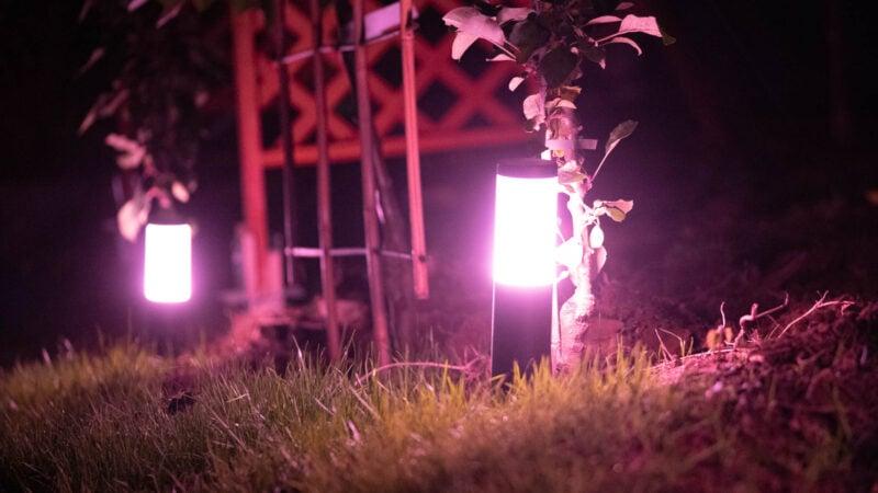 Innr Smart Outdoor Pedestal Light Colour Im Test 12