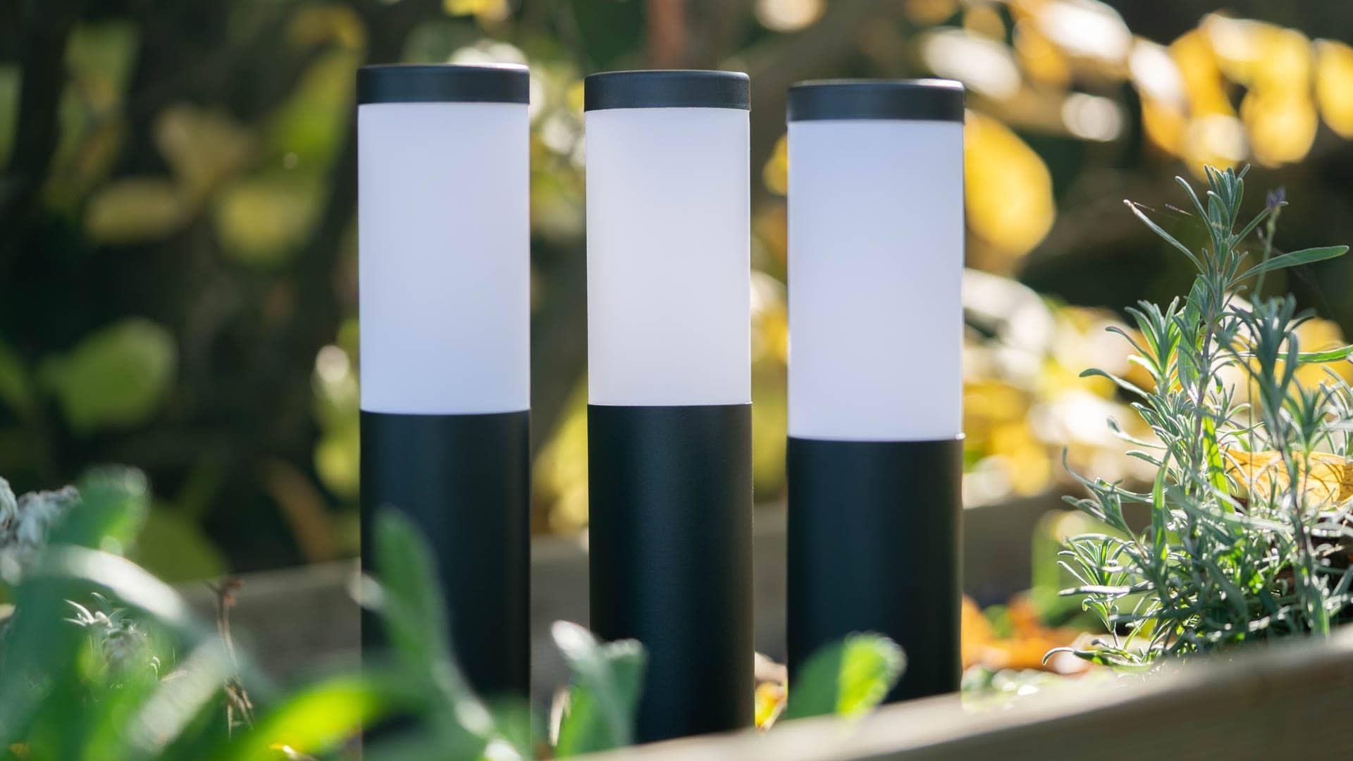 Innr Smart Outdoor Pedestal Light Colour im Test, Outdoor Lampen für Philips Hue!