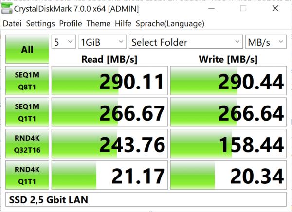 Ssd 2,5 Gbit Lan