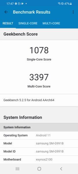 Screenshot 20210123 174736 Geekbench 5