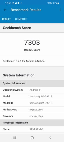 Screenshot 20210123 175304 Geekbench 5