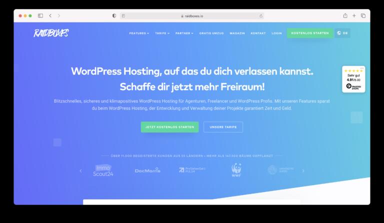 Erfahrungsbericht raidboxes, mein neuer Webhoster? (2021)