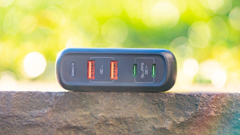 Das URVNS A1903 150W PD QC 4,0 3,0 GaN USB C Ladegerät aus China im Test