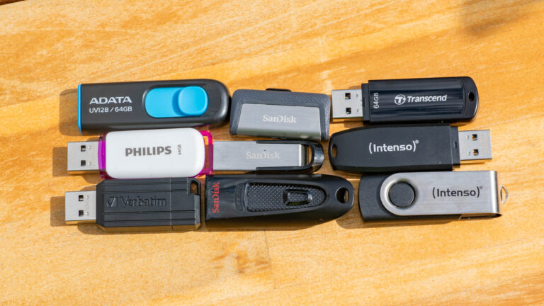 9x 64GB USB Sticks unter 10€ im Vergleich, welcher ist der schnellste?