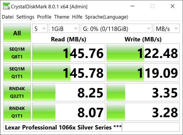 128 gb lexar kartenleser