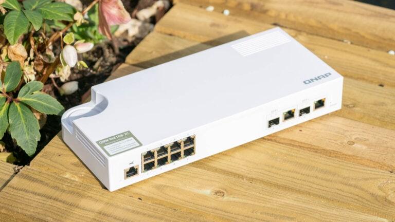 Der QNAP QSW-M2108-2C Desktop 2.5G Smart Switch im Test, günstiger 10/2,5GBit LAN Switch