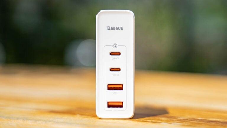 USB, PD, PPS, QC 3.0, SCP, 100W Leistung und 4-Ports, Test Baseus CCGAN100UE