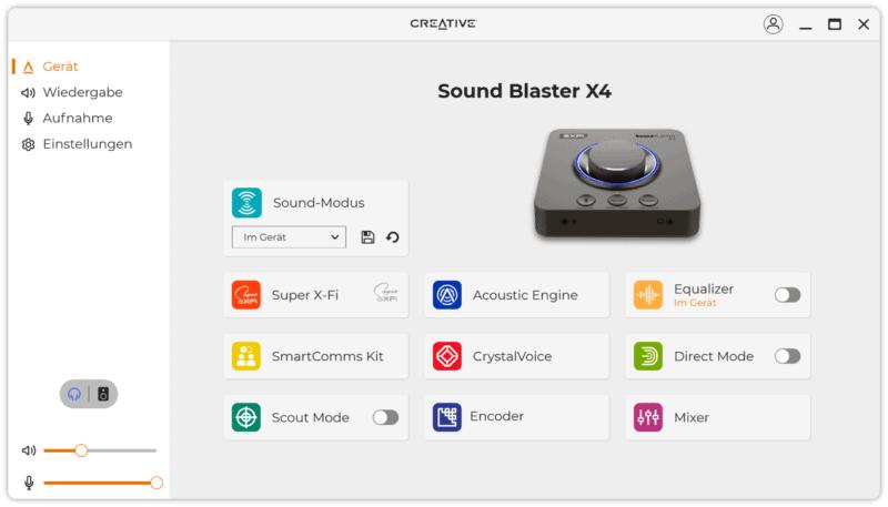 creative soundblaster x4 software 2