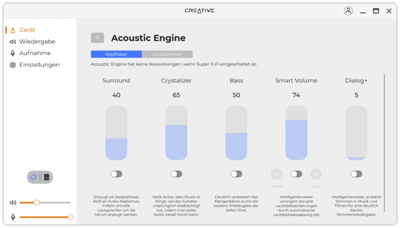 creative soundblaster x4 software 5
