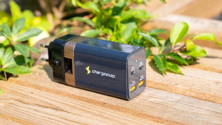 Chargeasap Omega 200W, das beste USB C Ladegerät etwas unglücklich im Test